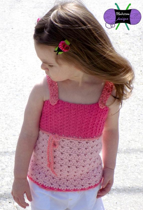 Gracie Lace Tank Baby Pdf Crochet Pattern Summer Tank Top Etsy