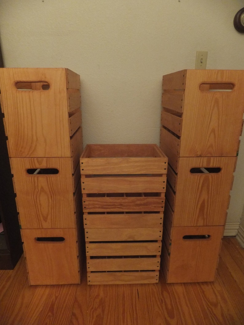 Tall Wooden Wine Spirits Crates