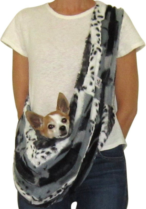 Dog Sling Gray Abstract