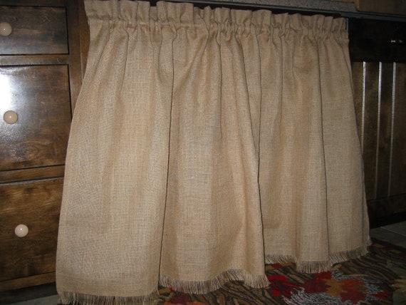 Burlap Farmhouse Kitchen Sink Appliance Skirt Vanity Skirt Cafe Style Window Curtain Panel