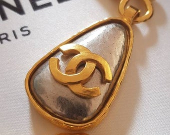 6c95a20442ae91 authentic CHANEL CC NECKLACE vintage designer necklace cc pendant chanel  chain chanel logo necklace chanel jewelry designer for women signed
