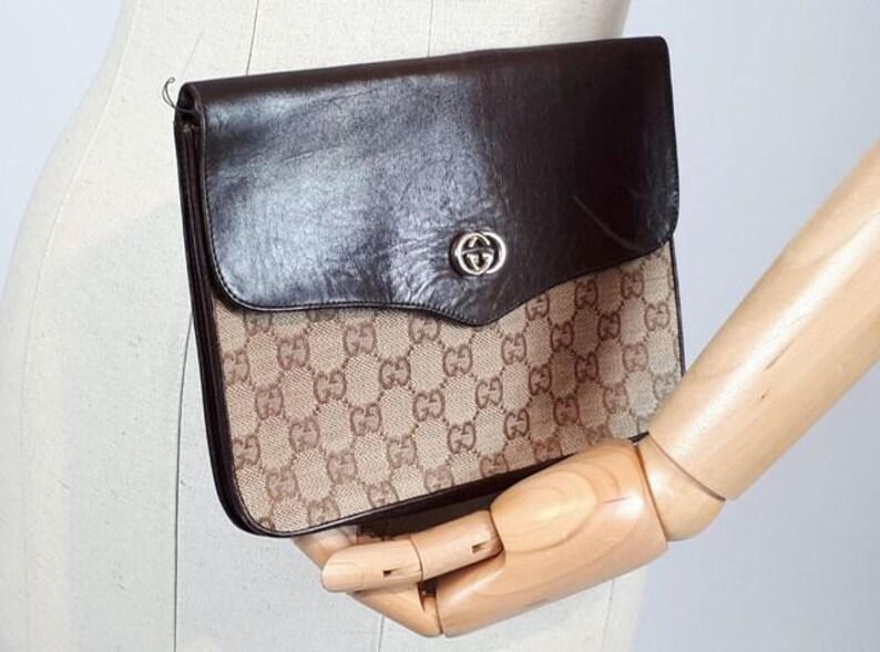 877b0fa23f60 VINTAGE GUCCI CLUTCH bag authentic gucci clutch real gucci | Etsy