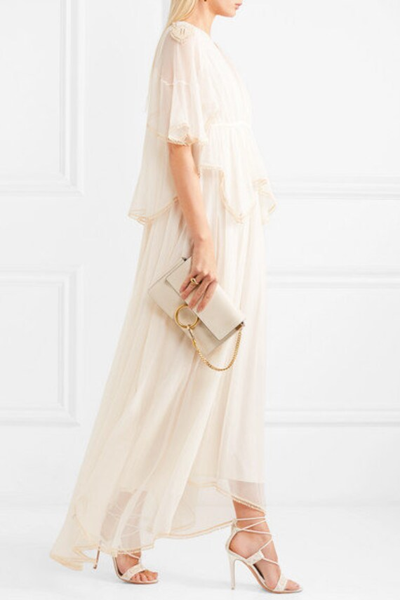 JEAN VARON caftan, jean varon dress, long dress, v