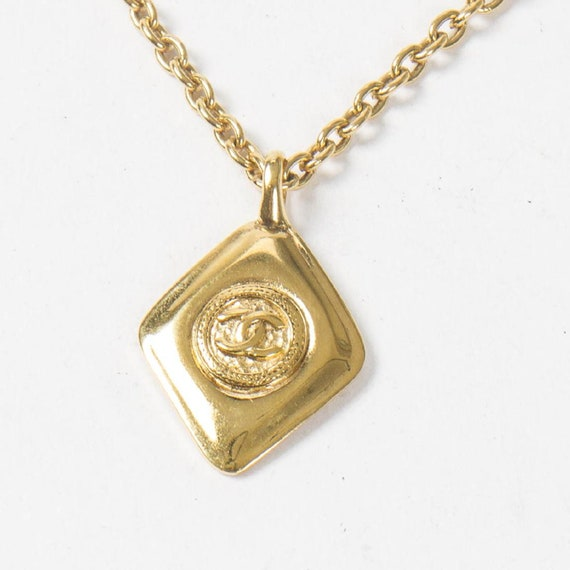authentic chanel necklace, vintage chanel cc neckl