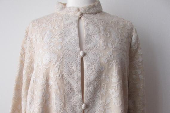 M L 40s KASHMIRI, soutache cardigan, 40s jacket, e