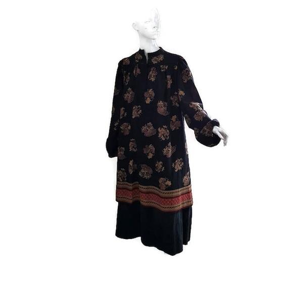sale 70s LANVIN HAUTE COUTURE wool smock dress ful