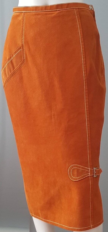 XS S 70s bill gibb suede wiggle skirt, bill gibb l