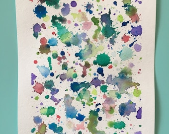 Watercolor Paint Splatter, Abstract Painting, Abstract Watercolor