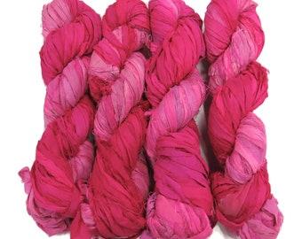 Quality Sari Silk ribbons Yarns and Weaving Supplies by