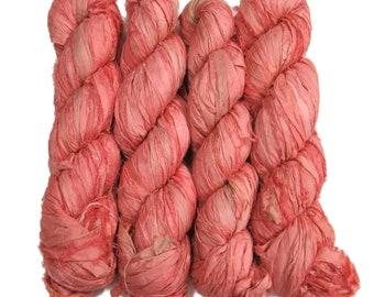 New! 100g, Sari Silk Ribbon, 50 yards, Color:  Santa Rose