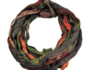 Lurex Metallic thread Sari Silk  Ribbon with designs , 100g