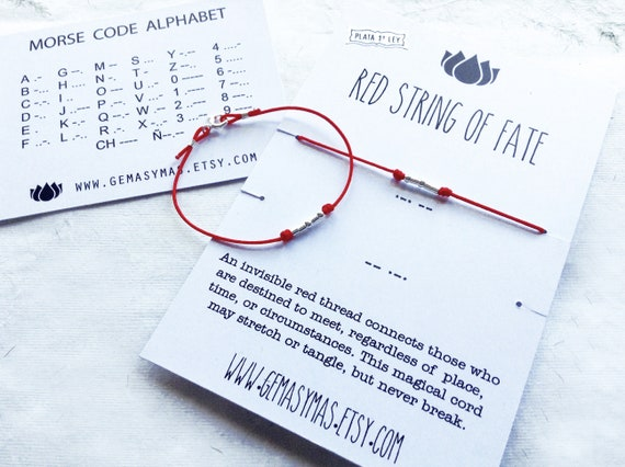 Red String of Fate Bracelet Red Thread of Fate Red Bracelet Red Thread Talisman Red String Amulet Red String Bracelet