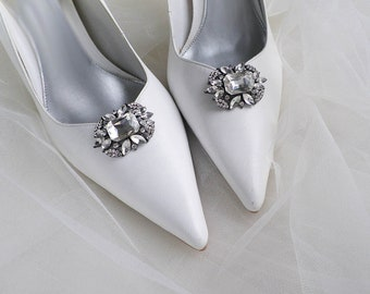 bb405d172 Vintage art deco style sparkly oblong brooch wedding bridal party shoe clips