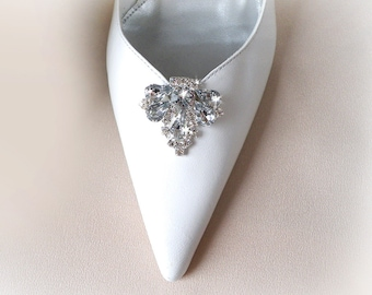 2eae9db96780 Vintage art deco style very sparkly brooch wedding bridal party shoe clips