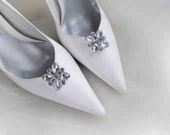 c0dfa815ad40 Vintage art deco style sparkly square brooch wedding bridal party shoe clips