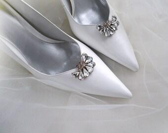 894ba2badb56 Vintage art deco style sparkly brooch wedding bridal party shoe clips