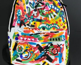 custom designed abstract back pack