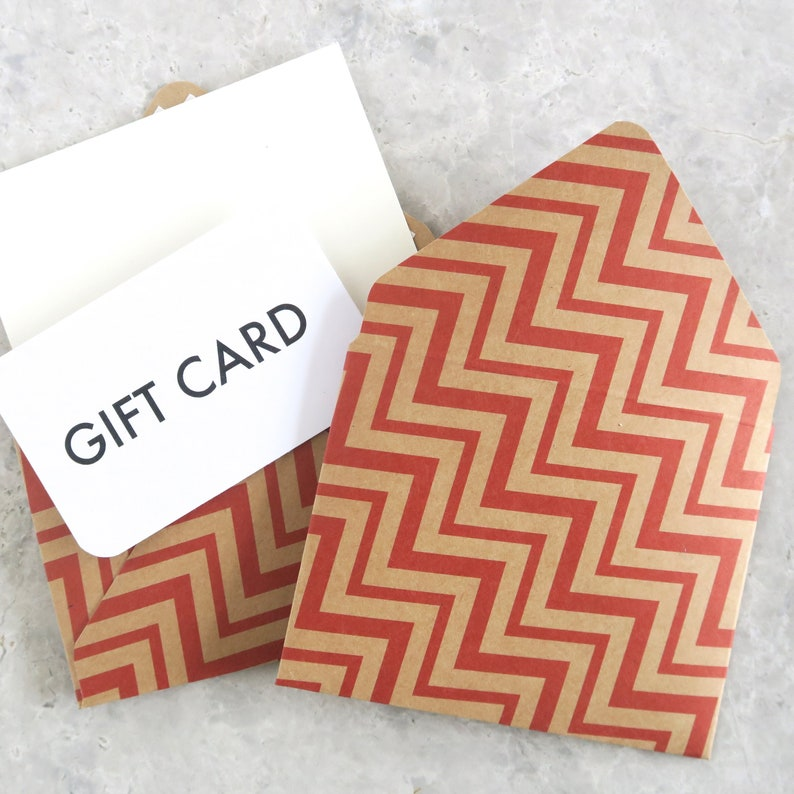 4 Gift Card Envelopes and Notecards Pack Gift Card Holders image 0