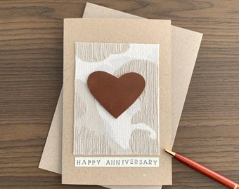 Wedding Anniversary Card for Couple, for Parents, for Friends, Handmade Anniversary Gift