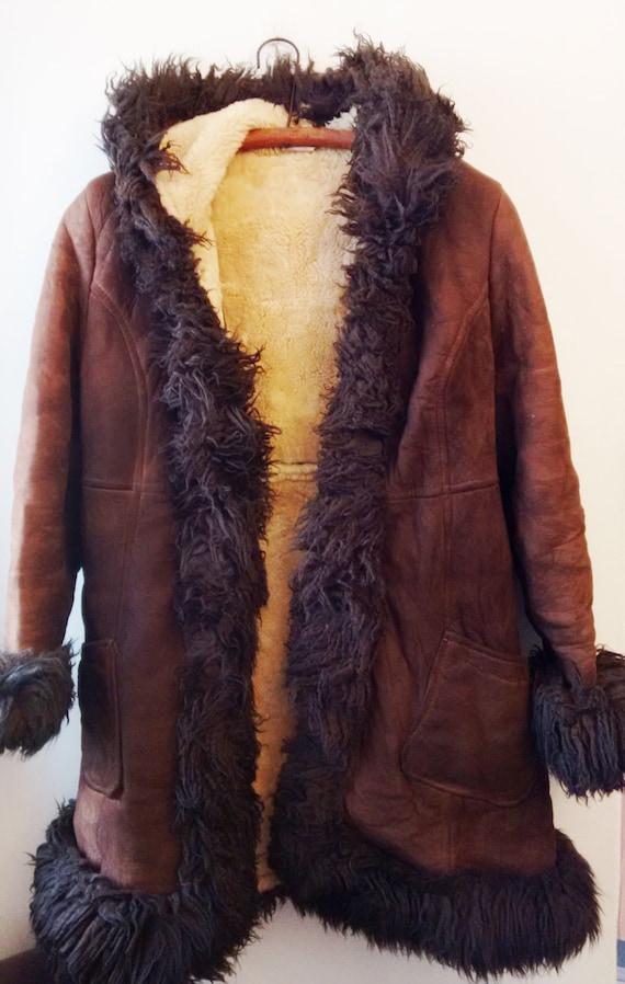 Leather sheep coat,women coat,sheep wool coat,fur