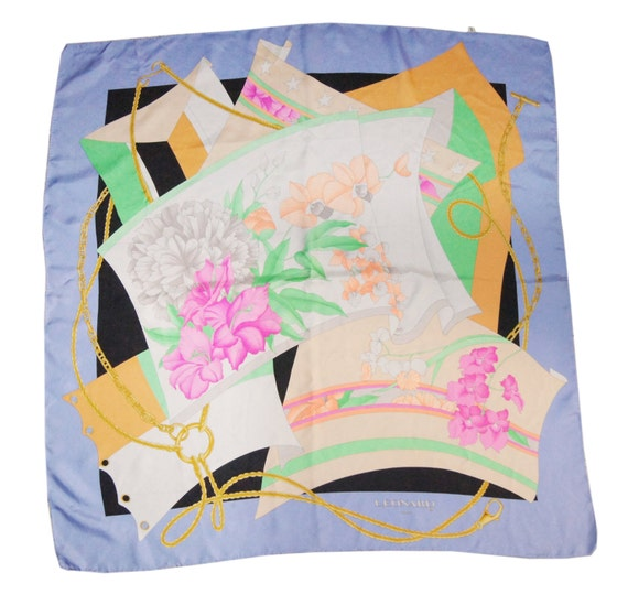LEONARD paris silk scarf, flora print, Beautiful s