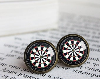 9f2423b34fe3 Darts, Darts Board, Darts Game, Darts Board Earrings, Darts Board Stud  earrings, Darts Gift For Her, Game Earrings, Gamer Gift, Bullseye