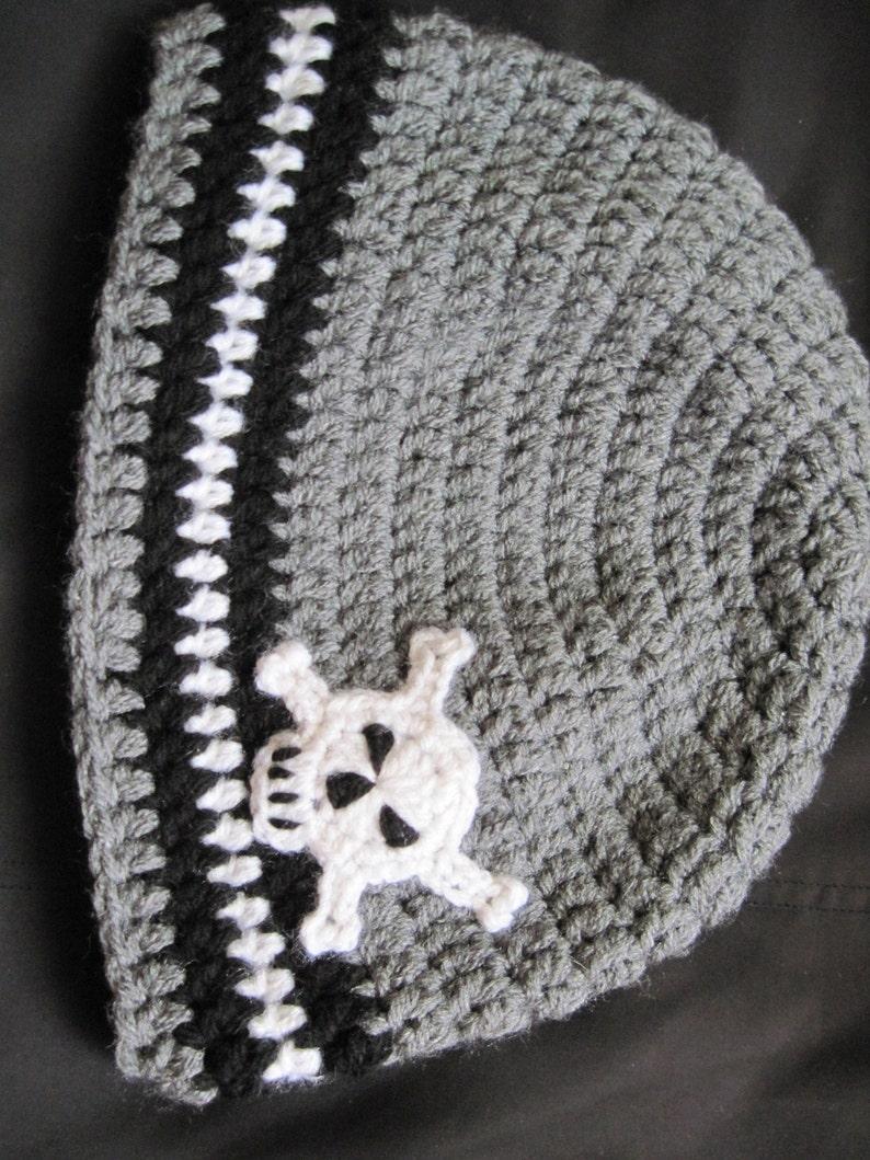 05e9b122a73 Newborn Skull Hat Baby Boys hats skull accessories Grey