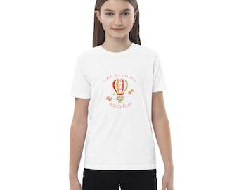 Organic cotton kids t-shirt, Girls T-Shirt, Balloon Adventures T-Shirt, Boys T-Shirt, Summer T-Shirt, Back to School T-Shirt
