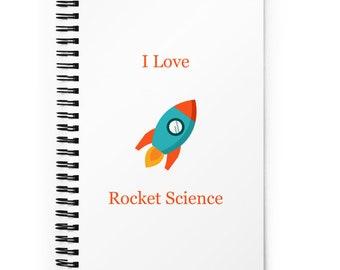 Spiral notebook, Back to School Notebook, Notebook, Science Notebook, Blank Notebook