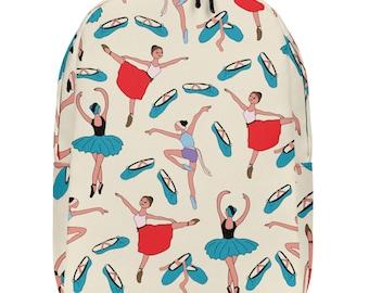 Ballet Backpack, Dancer Backpack, Minimalist Backpack, Back to School Backpack, School Backpack, Multi-coloured Backpack