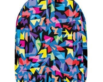 Minimalist Backpack, Back to School Backpack, School Backpack, Multi-coloured Backpack