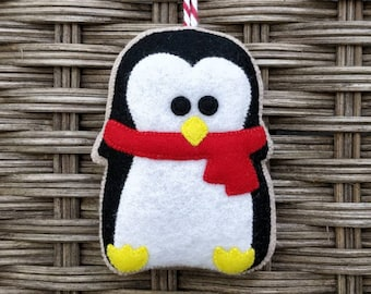 Cute felt Christmas penguin ornament