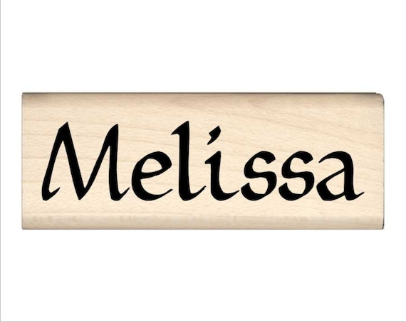 Melissa Name Rubber Stamp for Kids