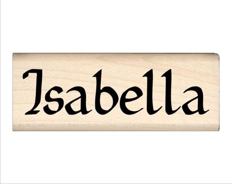 Isabella Name Rubber Stamp for Kids | Etsy