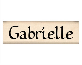 Gabrielle - Name Rubber Stamp for Kids