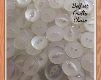 16mm Buttons 2b1227 White Buttons 2 hole buttons Round Buttons
