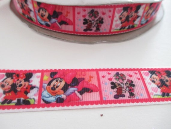 """Minnie Mouse Ribbon 7//8/"""" Wide NEW UK SELLER FREE P/&P"""