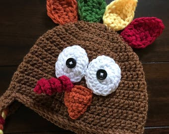 Crocheted Turkey Hat 819754853b3