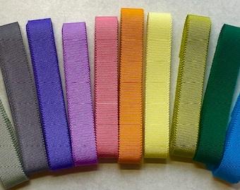 Rainbow of Petersham Grosgrain Ribbon Pack 15mm