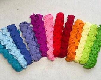 Rainbow 16mm Ric rac  Ribbon Pack