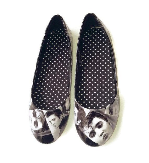 10901c8cd0730 Ladies flat shoes, Elvis Presley Shoes, handmade, wedding shoes,ladies  customised shoes, wedding shoes, Elvis gift, birthday gift,