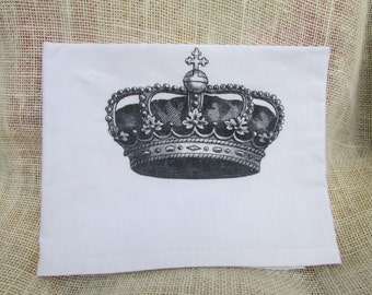 Flour Sack Crown Kitchen Towel Bride To Be Shower Gift Bridal Party Mothers Day Birthday Curtains