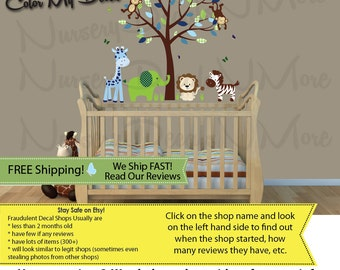 Tree Decals for Nursery Tree Wall Art Decals MRTO Mini Color Me Happy Tree
