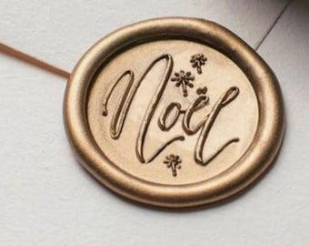 Noel Christmas self adhesive wax seals - pack of 5