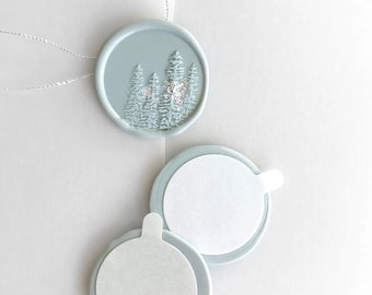 Christmas Woodland self adhesive wax seals - pack of 5