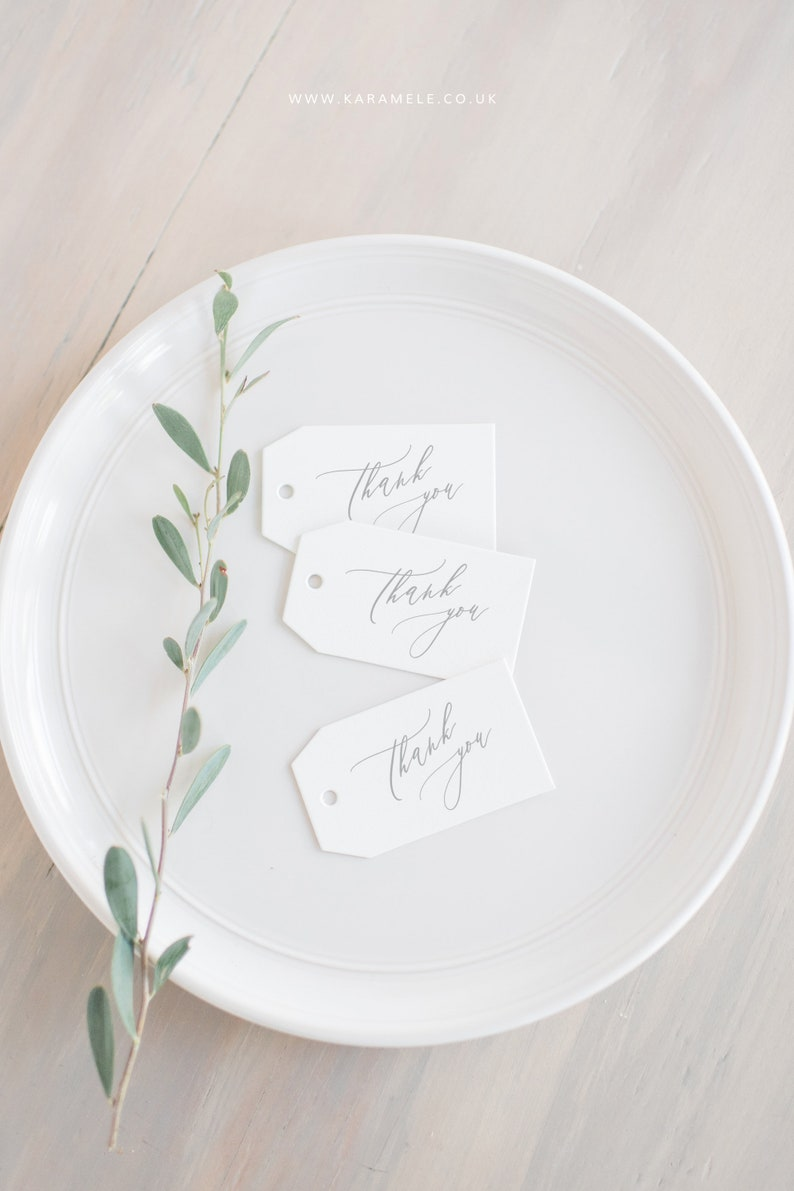 Thank You Tags  Hang tags  Favour gift tags image 0
