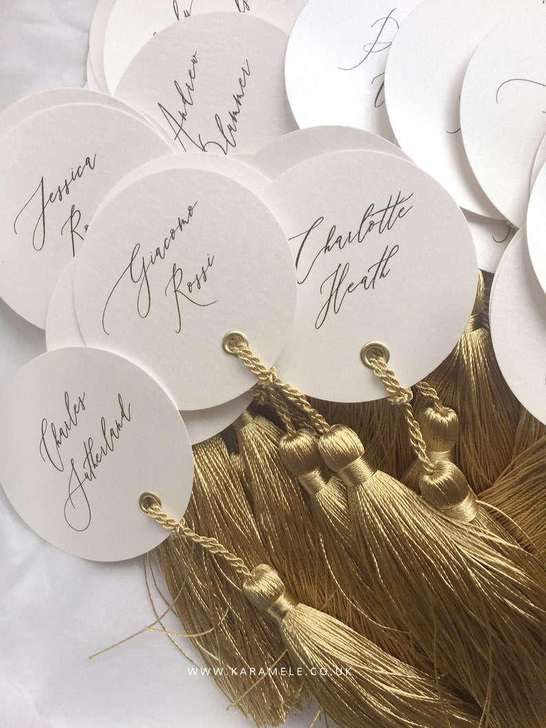 LUXE Wedding Place Cards / Calligraphy place cards / Luxury image 0