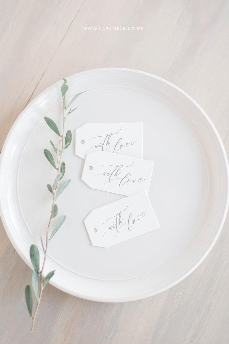 With Love Tags  Wedding Favour gift tags  Thank You Favour image 0