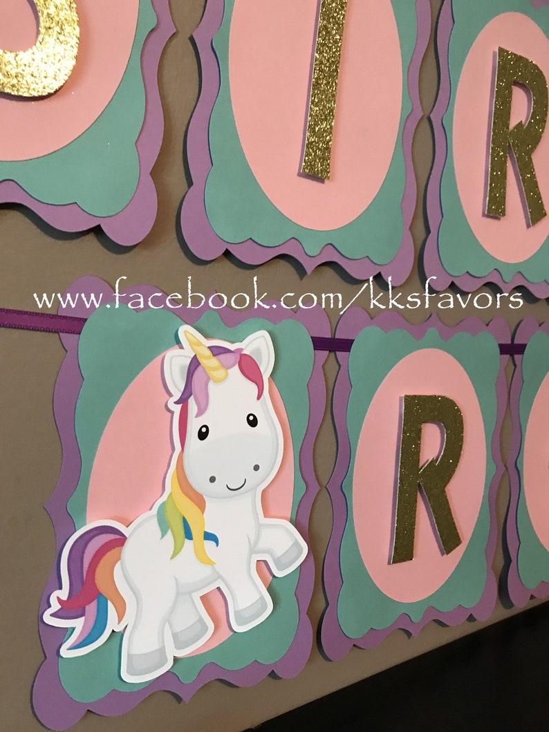 Unicorn Party Bannerunicorn Birthday Bannerunicorn 1st Etsy