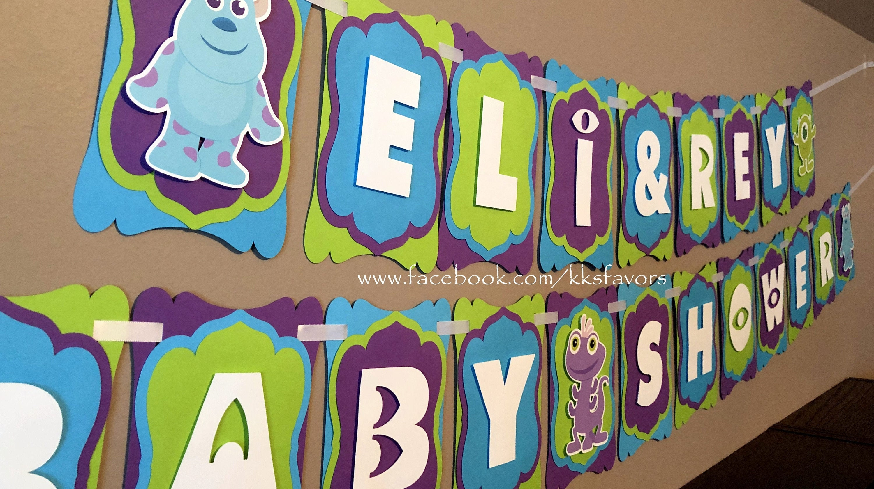 Monsters Inc Baby Shower Banner Monsters Inc Baby Etsy